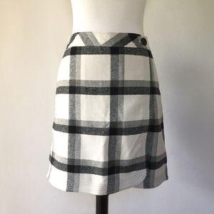 [LOFT] NWT plaid/flannel windowpane skirt